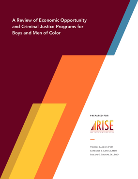 A Review of Economic Opportunity and Criminal Justice Programs for Boys and Men of Color