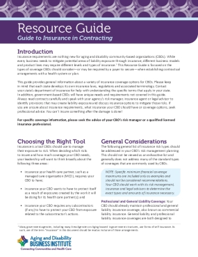 Guide to Insurance in Contracting
