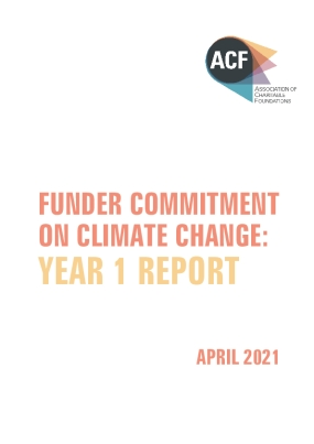 Funder Commitment on Climate Change: Year 1 Report