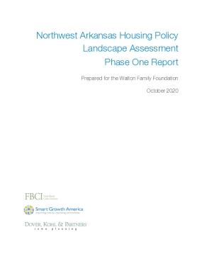 Northwest Arkansas Housing Policy Landscape Assessment Phase One Report
